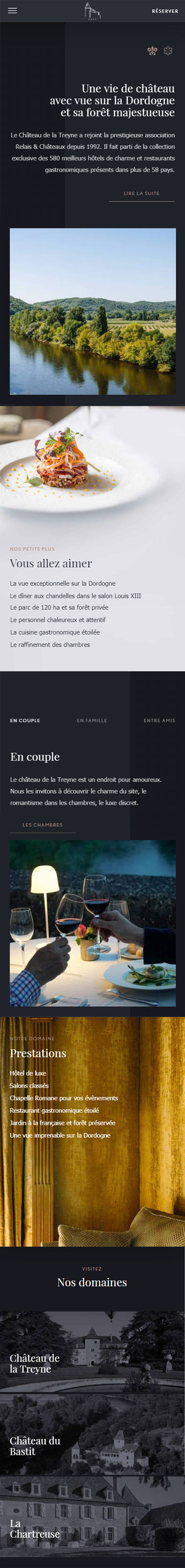 Version mobile du site